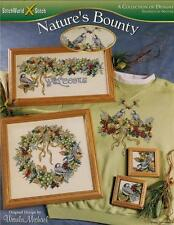 NATURE'S BOUNTY CROSS STITCH Patterns Bird Wreath ~ NEW