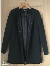 Black Smart Light Wool Coat New With Tags ONLY Debenhams Size 10