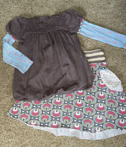 Matilda Jane Gypsy Blue Little Michelle at the Disco Bubbly Top sz 10 Vintage