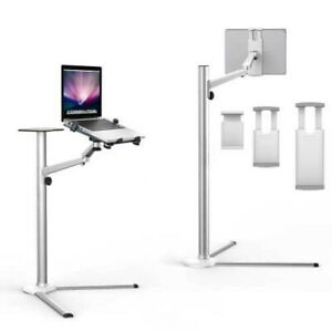 MacBook iPad iPhone... Clamp Type Height Adjustment Floor Stand Ciscle Japan EMS