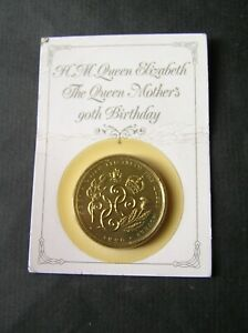 Queen Elizabeth the Queen Mother's 90th Birthday £5 coin on Royal Mint card