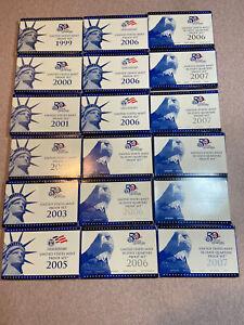 *United States Mint Proof Sets Lot Of 18  1999-2007*