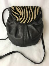 M. Taiuti ITALY Animal Print Fur Calf Hair Zebra Purse Clutch OR Cross Body Bag
