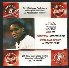 COCA-COLA-ENGLAND PLAYER-TRIVIA TWIDDLER- #08-INTER-MANCHESTER UNITED-PAUL INCE