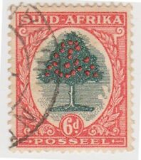(RSA77)1926 South Africa 6d orange &green tree(Suid)(D)