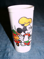 VINTAGE DISNEY MICKEY MINNIE MOUSE PLUTO PLASTIC CUP
