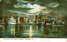 Sandusky,OH. The Columbus Avenue Boat Landing under the Moonlight 1907