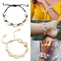 Bracelet en coquille tricotée à la main avec coquillages naturels