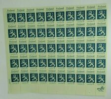 1917-67 Finland Independence 5 cent Stamp Sheet of 50 Mint