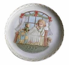 Pleasant Dreams and Sweet Repose Vintage Porcelain Bas Relief Plate 1994 Enesco