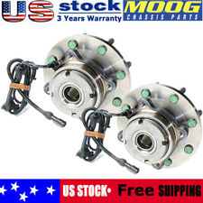 Pair (2) MOOG Front Wheel Hub Bearing Assembly For Ford F250 F350 Excursion 4X4