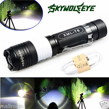 6000Lumens CREE XM-L T6 LED USB Aufladbare Taschenlampe Torch Zoom Flashlight