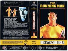 THE RUNNING MAN, {1995}  *RARE VHS TAPE*  SCHWARZENEGGER