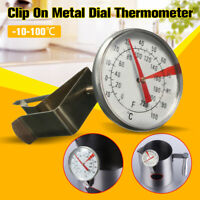 Clip On Metal Dial Thermometer -10~100℃ Gauge For Candle Soap Jam Coffee  ⊹☆