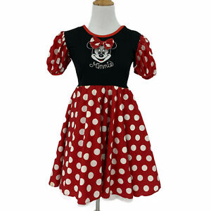 Vintage Disney Minne Mouse Dress Girls Size 10-12 Costume Cosplay Inner Lined