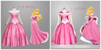 New Pink Sleeping Beauty Princess Aurora Gorgeous Fancy Dress Cosplay Costume