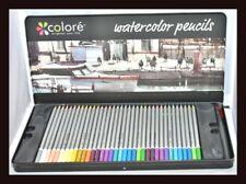 ❤ New Colore Watercolor Pencils 72 Colors with Brush Tip Pen Vibrant Colors ❤