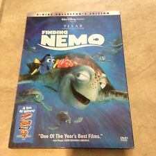 Finding Nemo Disney Pixar 2 DVD collectors edition in orig case w/ SLIP COVER