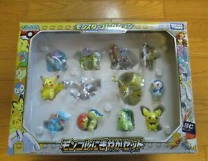 Pokemon TOMY Monster Collection Mini Figure Set Gold Ho-oh /Silver Lugia Japan