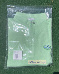 Scotty Cameron 2021 Masters Regal Crown Pullover 1/4 Zip Sweater Mint Leaf, M