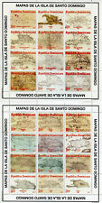 Dominican Republic 2017 MNH Maps of Santo Domingo Island 2x 16v M/S Stamps
