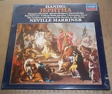 Marriner/Marshall/Hodgson/Kirkby/Esswood HANDEL Jephtha - Argo 414 183-1 SEALED