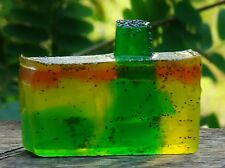 AUSTRALIAN LEMON MYRTLE & SPEARMINT Handmade SOAP with EXFOLIATING POPPY SEEDS