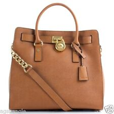 Michael Kors Bag 30S2GHMT3L MK Hamilton Large Leather NS Tote Luggage Agsb S1