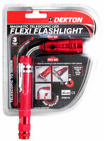 Flexible Flexi Torch Telescopic 3 LED Magnetic Pick Up Tool Light Flashlight