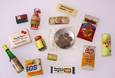 Vintage 14 pc Dollhouse Miniature Grocery Food Lot