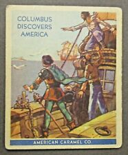 1930 R14 American Caramel #3 CHRISTOPHER COLUMBUS Discovers America trading card