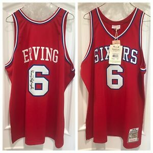 "Julius ""Dr. J"" Erving Signed 76er Sixers Authentic Jersey (Steiner)"
