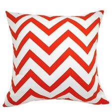 45cm Cotton Wave Stripe Pillow Case Square Waist Throw Cushion Cover -Orange