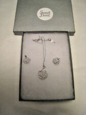 """Sweet Heart Details """"Belle"""" Rose Necklace and Earrings Wedding *Lower Price*"""