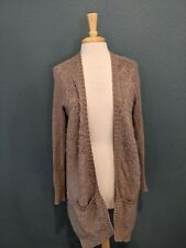 SLEEPING ON SNOW Open Drapey Front Cardigan Sweater L Cotton Wool Mohair Anthro