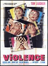 VIOLENCE MANIFESTO CINEMA CESSELON JANE RUSSEL 1976 BORN LOSERS MOVIE POSTER 4F