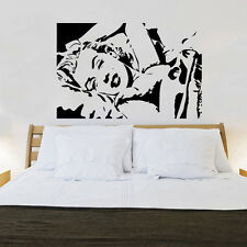 Marilyn Monroe Face Smile Quote Wall Stickers Art Room Removable Decals DIY