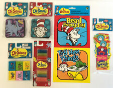 New Dr Seuss Teacher Home School Supplies Dry Erasers, Bookmarks, Decals Daycare
