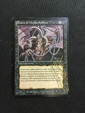 MTG Magic the Gathering - Chains of Mephistopheles - Legends - EX - SIGNED