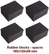 4 pcs Universal Scissor Lift Pads - 160 x 120 x 80 mm- Ramp Rubber Blocks-spaces