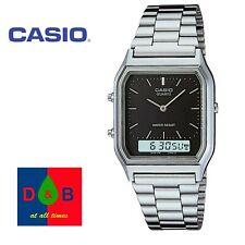 Casio Unisex AQ-230A-1DMQYES Analogue Digital Watch Silver Steel Band RRP£40 WOW