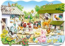 20 st puzzel: Vloerpuzzels - De boerderij (Gevormd, Dieren) (Castorland 02122)