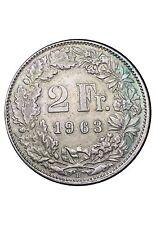 Suisse 2 Francs 1963 Argent