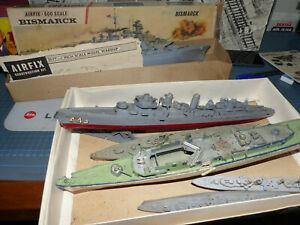 AIRFIX - Bismark più altre 5 navi da guerra -Montate ma da restauro -To restore-