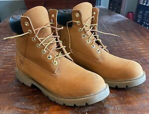 Timberland Men's Basic Boot 18094 Wheat/Gold Nubuck size 10 USED VG