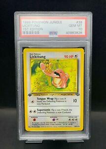 1999 Pokémon Jungle 1st Edition #38 Lickitung PSA 10 GEM MINT