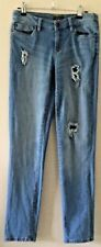 KATIES Size 8 Light Blue Straight Leg Ripped Jeans