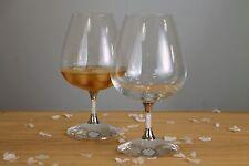 New Pair of Swarovski Crystal Filled Stem Brandy Glasses Cognac Glasses