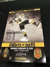 Anaheim Ducks vs Las Vegas Golden Knights Promo Poster 2nd Game Ever 2-19-18
