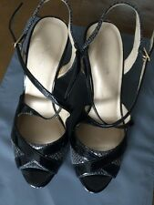 Autograph High Heeled Sandals Shoes Size 4 Snakeskin Pattern <R7530